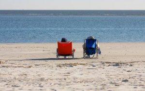 Snowbirds Mailbox Rental - Couple on the beach